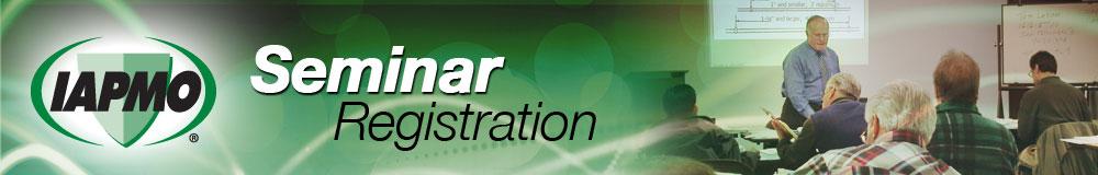 IAPMO Seminar Registration